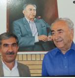 حاج علی ویس کریمی فرهنگی بازنشسته در محضر مدیر کل تعلیمات عشایری مرحوم محمد بهمن بیگی